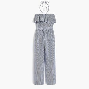 J.Crew ruffly jumpsuit with a stretchy waistband♥️